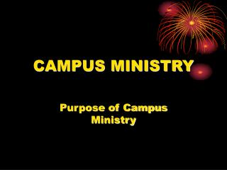 CAMPUS MINISTRY