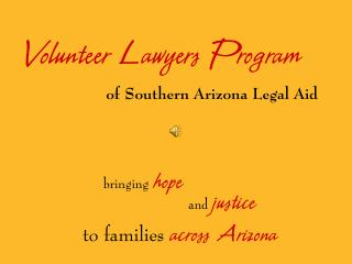 Volunteer Lawyers Program