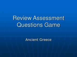Review Assessment Questions Game