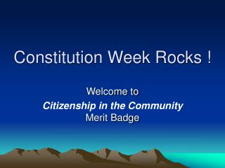 Constitution Week Rocks !