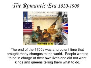 The Romantic Era  1820-1900