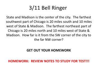 3/11 Bell  Ringer