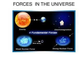FORCES  IN THE UNIVERSE