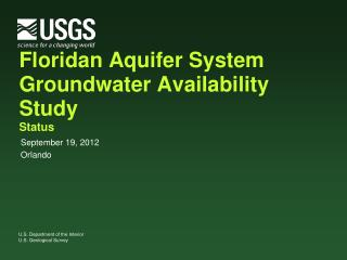 Floridan Aquifer System Groundwater Availability Study Status