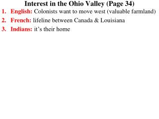 Interest in the Ohio Valley (Page 34)