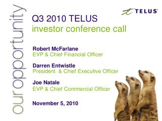 Q3 2010 TELUS investor conference call
