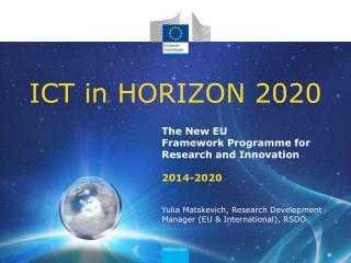 ICT in HORIZON 2020
