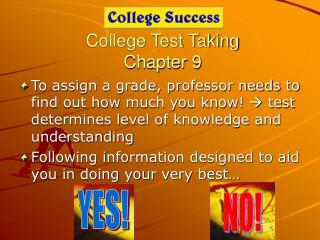 College Test Taking Chapter 9