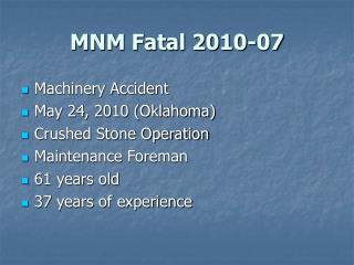 MNM Fatal 2010-07