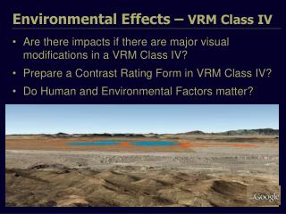 Environmental Effects –  VRM Class IV