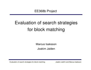 EE368b Project