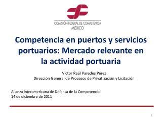Competencia en puertos y servicios portuarios: Mercado relevante en  la actividad portuaria