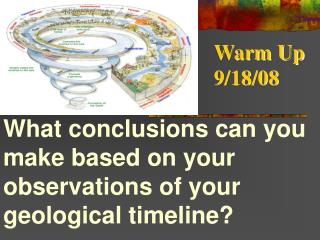 What conclusions can you make based on your observations of your geological timeline?