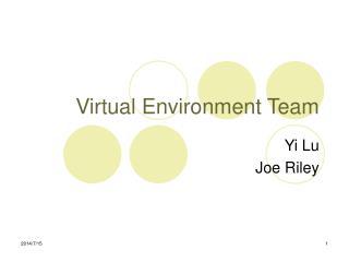 Virtual Environment Team