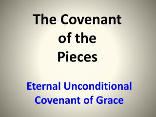 The Covenant  of the  Pieces