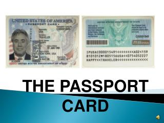 THE PASSPORT CARD