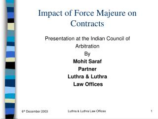 Impact of Force Majeure on Contracts