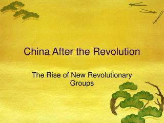 China After the Revolution