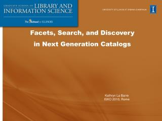 Facets, Search, and Discovery  in Next Generation Catalogs