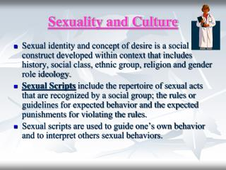 Sexuality and Culture