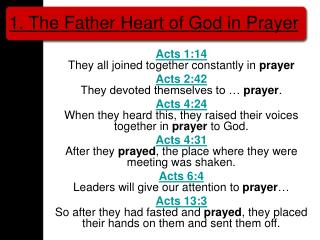 1. The Father Heart of God in Prayer