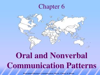 Chapter 6 Oral and Nonverbal Communication Patterns