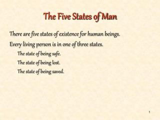 The Five States of Man