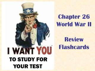 Chapter 26 World War II Review  Flashcards