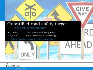 Quantified road safety target