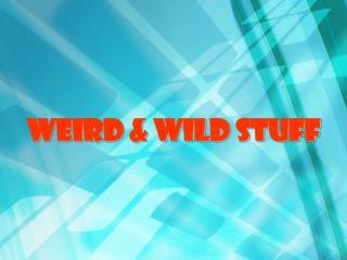 Weird & Wild Stuff
