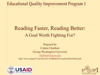 Reading Faster, Reading Better: A Goal Worth Fighting For?