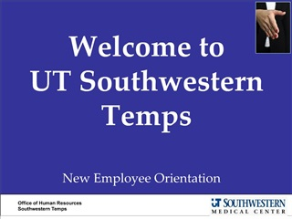 Welcome to  UT Southwestern Temps