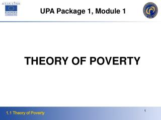THEORY OF POVERTY
