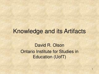 Knowledge and its Artifacts