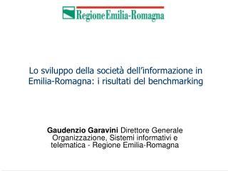 Lo sviluppo della società dell'informazione in Emilia-Romagna: i risultati del benchmarking