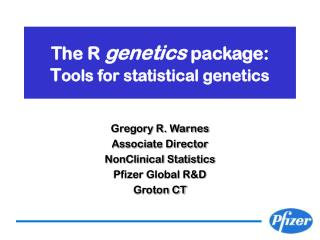 The R genetics package: Tools for statistical genetics