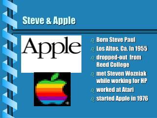 Steve & Apple