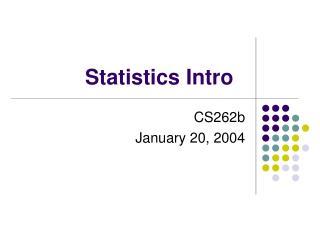 Statistics Intro