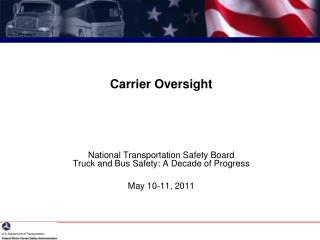 Carrier Oversight
