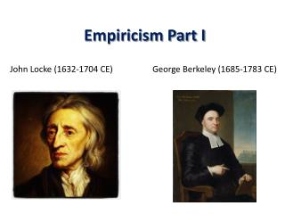 Empiricism Part I
