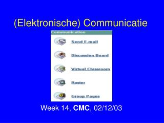 (Elektronische) Communicatie
