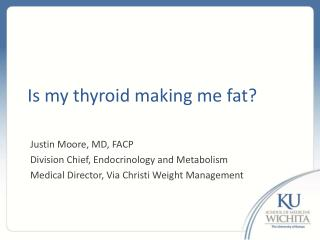 Is my thyroid making me fat?