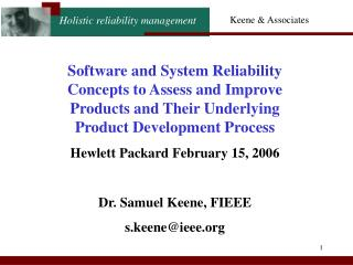 Software and System Reliability Concepts to Assess and Improve Products and Their Underlying Product Development Proces