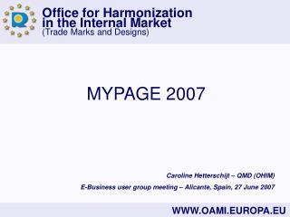 MYPAGE 2007