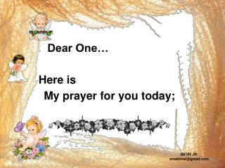 My prayer for you today;