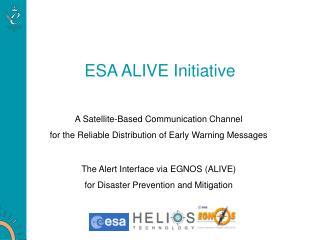 ESA ALIVE Initiative