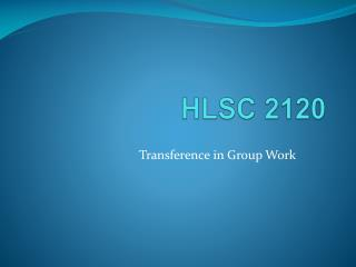 HLSC 2120
