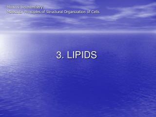 3. LIPIDS
