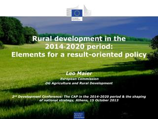R ural development in  the  2014‐2020 period:  Elements for a result-oriented policy