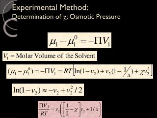 Experimental Method: Determination of   : Osmotic Pressure